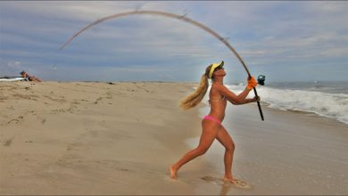 Photo of Fishing with VINTAGE GEAR! Surf Fishing with ANTIQUE Rod & Reel!