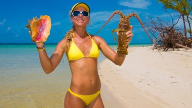 Photo of Catch and Cook Lobster & Conch on a DESERTED ISLAND! Cooked on the Beach!