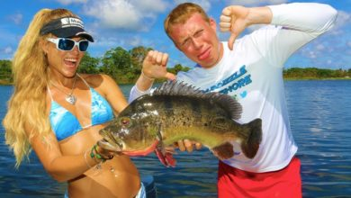 Photo of BROTHER vs SISTER Fish Off! Inshore Fishing Challenge!