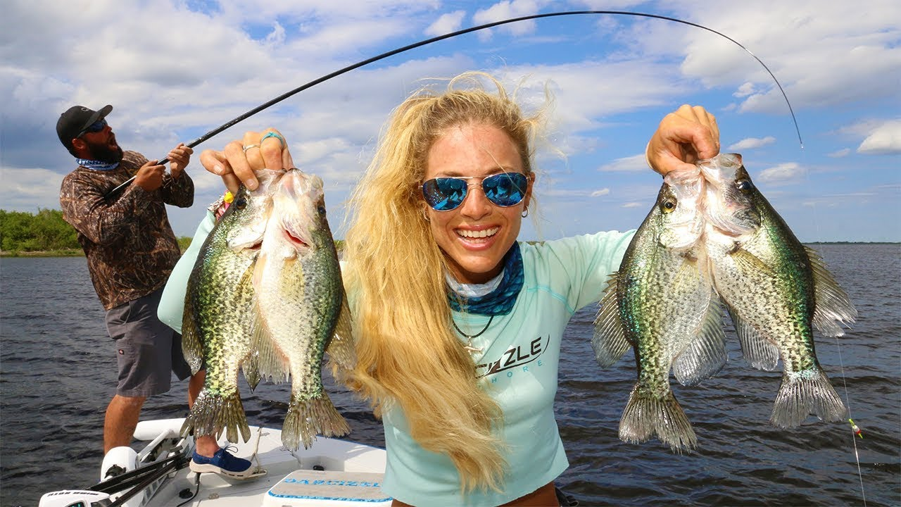 Crappie fishing with live minnows on lake okeechobee for Crappie fishing florida
