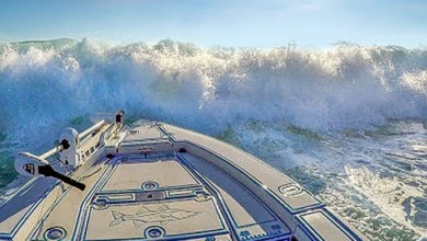 Photo of Unexpected BIG WAVES Swamp Our SMALL BOAT!